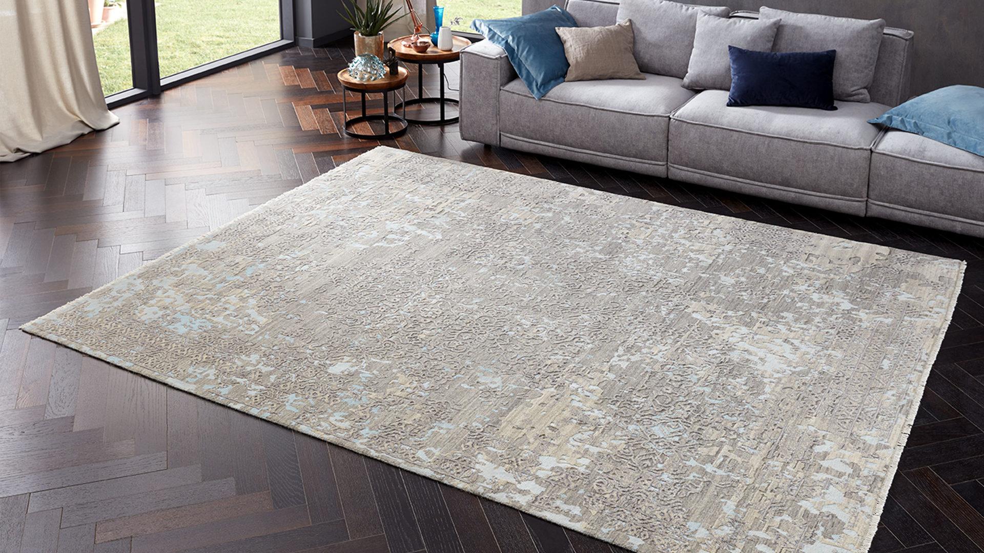 Interliving Teppich Serie T-8350, Beige-Grau gemustert – ca. 140 x 200 cm