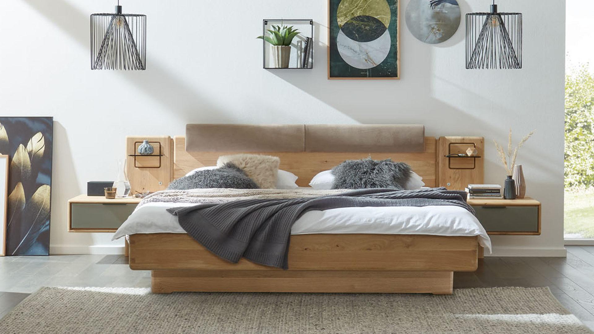 Interliving Schlafzimmer Serie 1015 Bettgestell 1181 Mit Zusatzausstattung