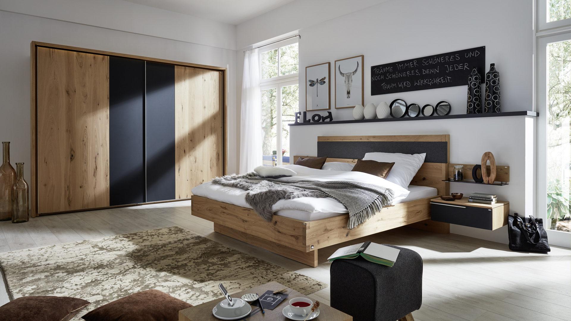 Interliving Schlafzimmer Serie 1004 Hangekonsole Alteiche Rustiko