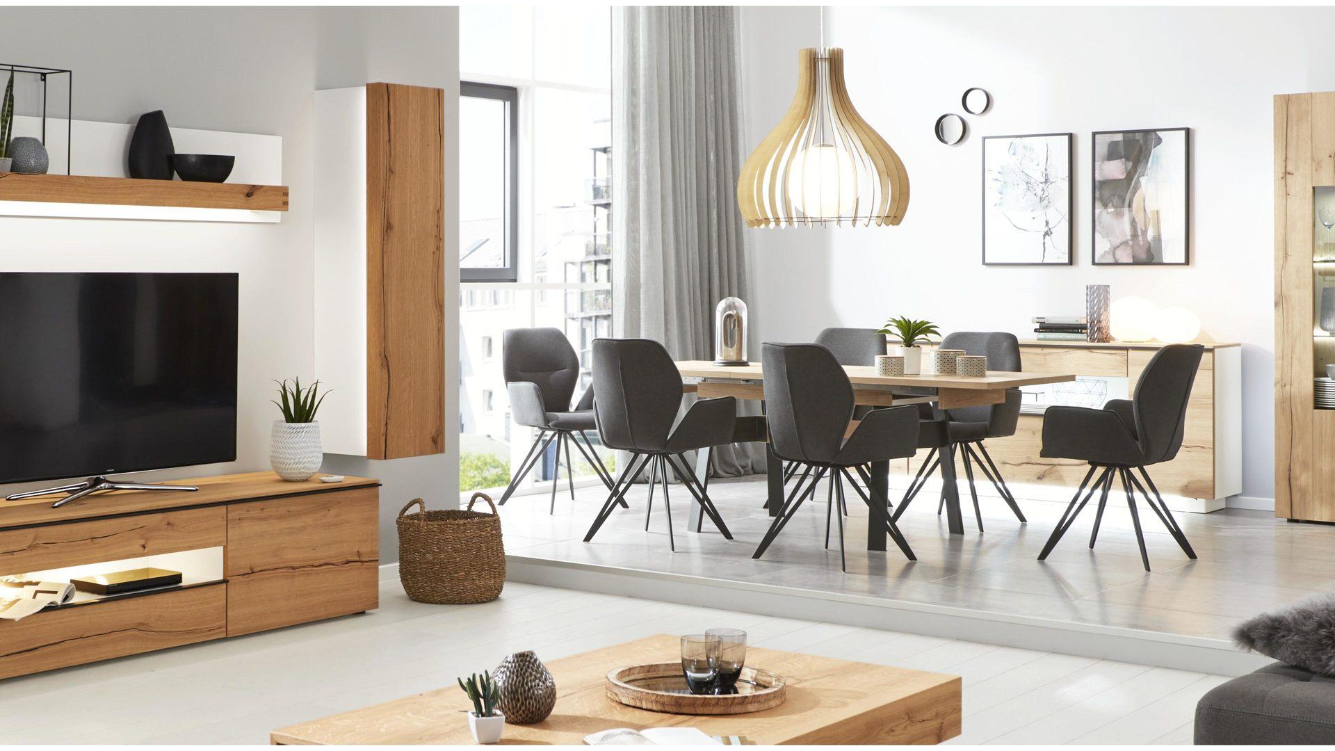 Interliving Wohnzimmer Serie 2103 Hängeelement Mattweißer Lack