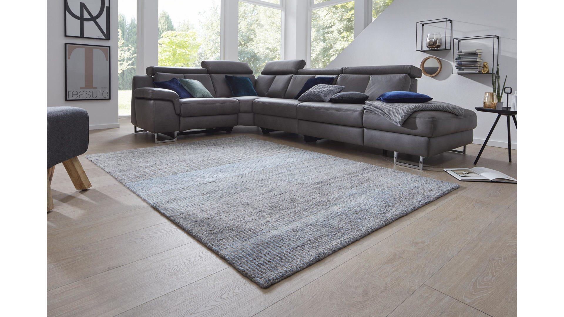 Interliving Teppich Serie S-18, grau-blau – ca. 18 x 18 cm