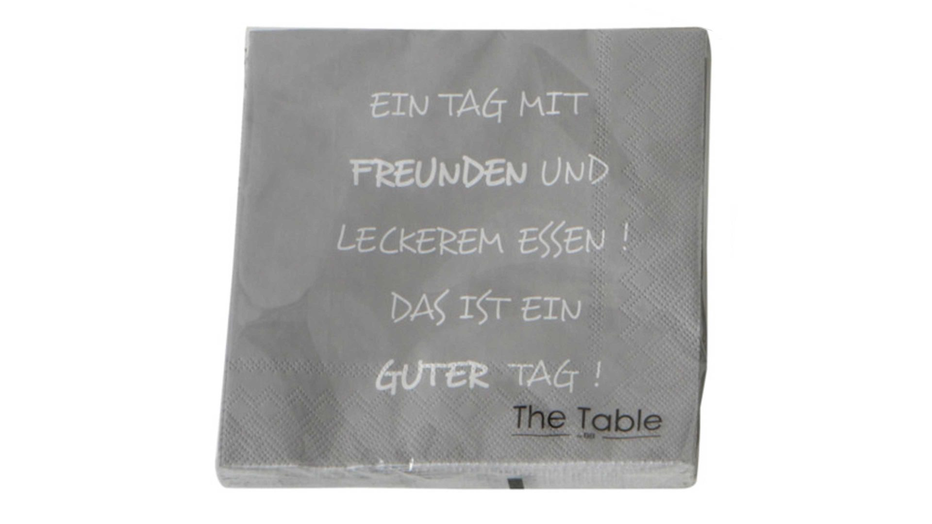 Serviette Interliving BEST BUDDYS! aus Karton / Papier / Pappe in Grau Interliving BEST BUDDYS! Serviette Everyday Motiv Ein Tag mit Freunden – ca. 17 x 17 cm